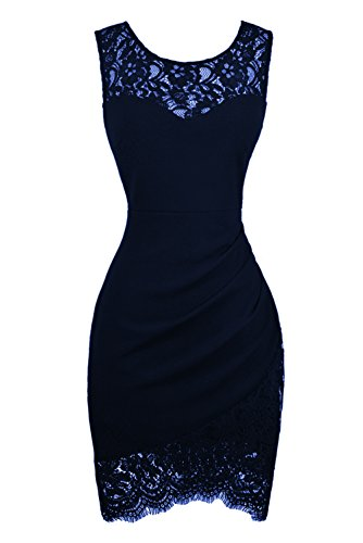 (Swiland Cocktail Dresses for Women Party Lace Prom Dress Homecoming Formal Dresses Navy Blue,XS)