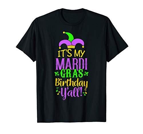Fun Mardi Gras Birthday Party Y'all TShirt ()