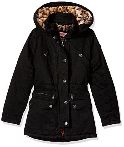Urban Republic Big Ur Girls Cotton Twill Jacket, Black 5809AB, 14