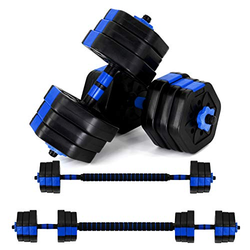 Vivitory Weights Dumbbells Set, Adjustable Dumbbell Set with Connector, Non-Rolling Dumbbells Weights Set for Home Gym…