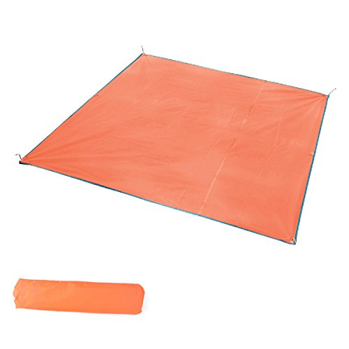 TRIWONDER Camping Tent Tarp Footprint Outdoor Waterproof Hammock Rain Fly Rainfly Cover Sunshade Shelter Groundsheet Canopy Blanket Mat (Orange, 59 x 84.6 inches)