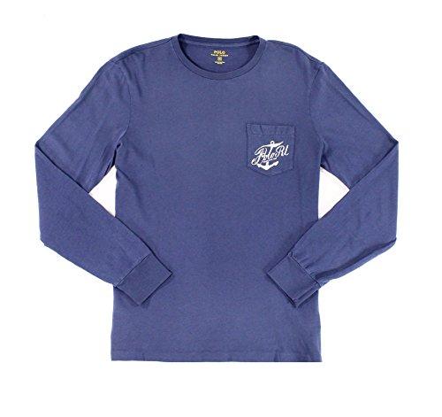 Custom Match Fit (Polo Ralph Lauren Men's Custom-Fit Graphic Longsleeve Tee T-Shirt, XS, Navy)