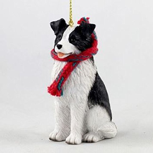 - Border Collie with Scarf Christmas Ornament (Large 3 inch version) Dog
