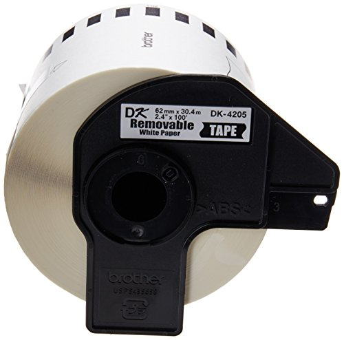 "Brother Genuine DK-4205 Continuous Length Paper Tape, Cut-to-Length Label, 2.4"" x 100 Feet, (1) Roll Per (Dk Paper Tape)"