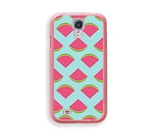Aqua Watemelon Pattern Hipster Pink Plastic Bumper Samsung Galaxy S4 I9500 Case - Fits Samsung Galaxy S4 I9500
