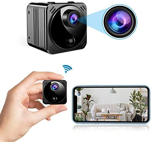 Amazon.com : Mini Spy Camera Wireless Hidden Cameras WiFi - Real 1080P HD Hidden Nanny Cam with Cell Phone App, Small Covert Security Camera with Night Vision Motion Detection for Home/Car/Indoor/Outdoor :