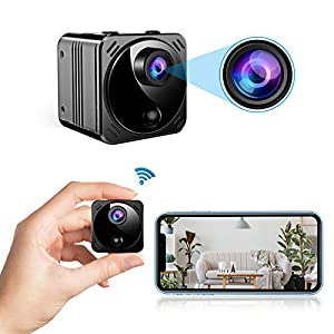 Flashandfocus.com 41ql%2B2GljuL._SS300_ Mini Spy Camera Wireless Hidden Cameras WiFi - Real 1080P HD Hidden Nanny Cam with Cell Phone App, Small Covert Security…