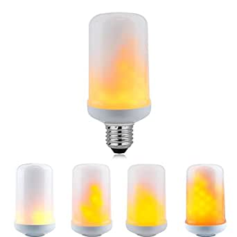 Unionup LED Flame Effect Fire Light Bulbs,3 modes Creative with Flickering Emulation Lamps,Simulated Nature Fire in Antique Lantern Atmosphere for Holiday Hotel/Bars/Home Decoration/Restaurants-Fangle