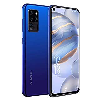 "Oukitel C21 Unlocked Cell Phones - 6.4"" FHD+ Hole Punch Screen High Capacity Battery Smartphone with 20MP AI Quad Camera, Android 10 and Dual 4G Volte(Ocean Blue¡­"