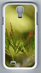 Leaves close up Polycarbonate Hard Case Cover for Samsung Galaxy S4/Samsung Galaxy I9500 White