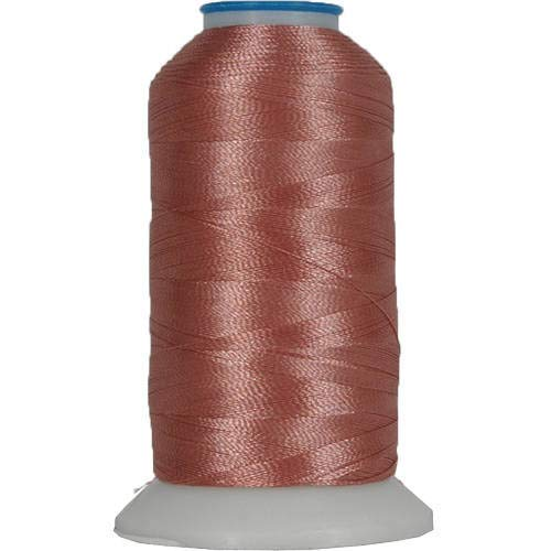 Threadart Polyester Machine Embroidery Thread By the Spool - No. 481 - Dark Salmon - 1000M - 220 Colors - Salmon Machine