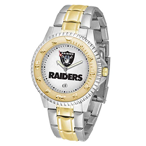 Game Time NFL Oakland Raiders Mens Two-Tone CompetitorWrist Watch, White, One Size
