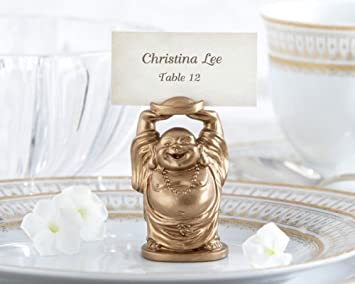 laughing buddha place card holder set of 4 as seen in instyle magazine