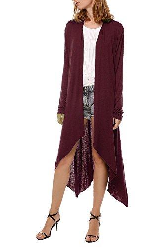 Cardigan Alax confortevole leggero per alto rosso cotone con in collo donna rq7r6U