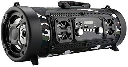 WElinks Wi-fi Bluetooth Speaker Excessive-Energy 15W Music Barrel Speaker Moveable Waterproof Excessive-Energy Speaker Indoor Outside Loud Sound Music Taking part in Speaker (Camouflage)