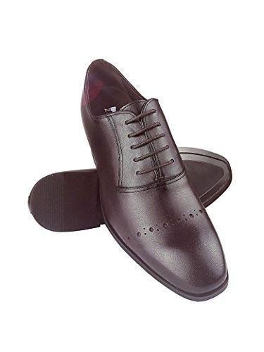 Zerimar Scarpe con Aumentato Interno di 8 cm Realizzata in Pelle di Alta Qualità 100% Pelle Colore Bordeaux burdeos