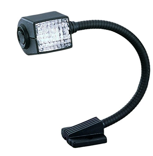 "HELLA 004532171 '4532 Series' 12"" 12V DC Fixed Mount Flexible Chart Reading Light with Black Housing"