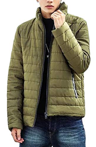 Lightweight Green Army Plus EKU Sleeve Long Collar Size Down Jacket Stand Men's pn4qwxA6f
