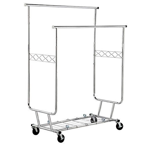 Yaheetech Commercial Grade Rolling Garment Drying Rack Colla