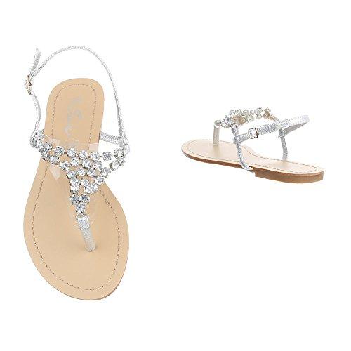 Ital-Design - Zapatos con tacón Mujer Silber N1175-5