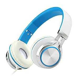 ECOOPRO Over Ear Stereo Headphones for MP3 MP4 PC Tablets Mobiles- Adjustable, Lightweight & Portable (200 Blue)