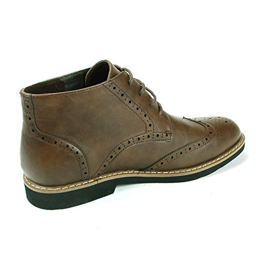 Brown Medallion Brogue Boots Ankle Men's Tips Wing Up Geneva swiss Lace alpine 4wxqOPgUB7