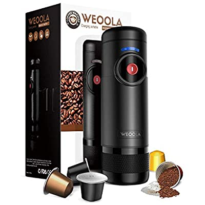 Electric Portable Espresso Machine for Using in Car, with Rechargeable Battery and Charged by Car Charger