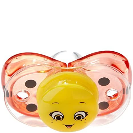RaZbaby Keep-it-Kleen Pacifier - Silicone - Lola Ladybug by ...