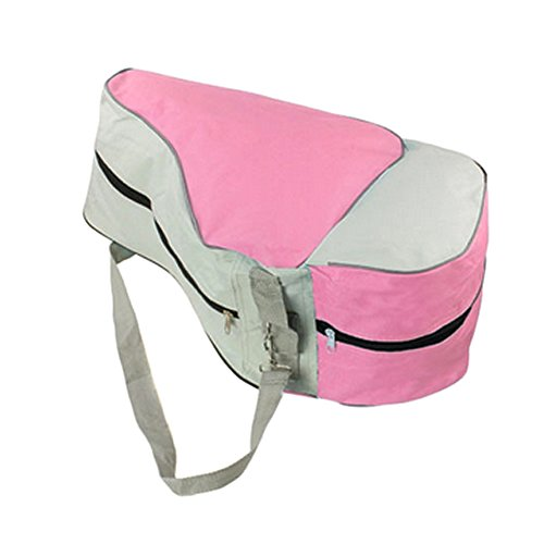 - Mimgo Store Portable Roller Skating Bag Adjustable Shoulder Strap Skates Carry Bag Case (Pink )