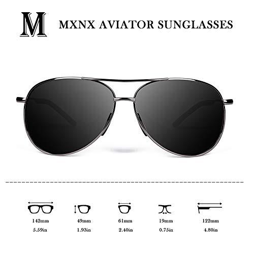 Aviator Sunglasses for Men Polarized Women -MXNX UV Protection Lightweight Driving Fishing Sports Mens Sunglasses MX208 4