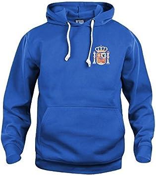 Old School Football Retro España Sudadera DE Futbol Nuevas Tallas s-3xl Logotipo Bordado - Azul Real, Small: Amazon.es: Deportes y aire libre