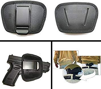Ultimate Arms Gear Tactical ITP IWB IPH CCW Inside The Pants Waist Band Belt Medium - Large Frame Hand Gun Auto Pistol Clip Ambidextrous Open Top Holster For Lefty and Right Hand Shooters
