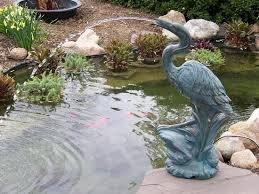 Deluxe Heron Pond Spitter-decorative crane fountain