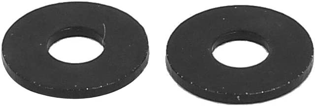 607f1c1a-a222-11e9-8d7c-4cedfbbbda4e X-Dr M2 x 6mm x 0.5mm Black Zinc Plated Flat Washers Spacers Gaskets Fastener 100PCS