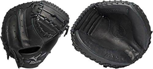 Mizuno GXC31 Samurai Pro Baseball Catcher's Mitt (Black, 34.00-Inch, Right Handed Throw) -