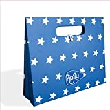 Pipity Art Storage Portfolio for Kids. Portable Box File Organizer with 7 Expandable Accordion Pockets. Ideal Filing Folders for Childrens Art Work & Paper Projects. Blue, A5 Size