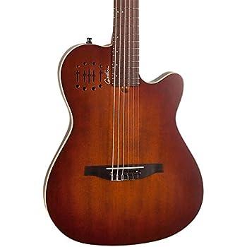 godin multiac encore nylon string acoustic electric guitar burnt umber musical. Black Bedroom Furniture Sets. Home Design Ideas