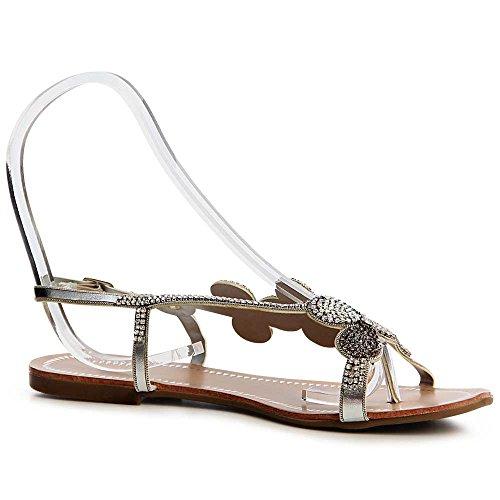 Femmes Sandalettes Sandales Femmes Argent Sandales Argent Topschuhe24 Sandales Topschuhe24 Topschuhe24 Femmes Sandalettes fxURgwZf