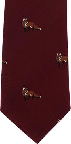 Wine Fox Silk Tie by Michelsons of London