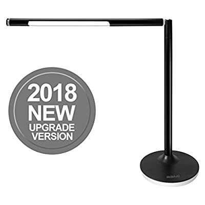 BBMi LED Desk Lamp,Eye-caring Table Lamps,Stepless Brightness LED Reading/Study Lamp USB Rechargable Port,Touch Control Soft Night Light,4 Color Temperature with Memory Function,7W,DIY Assembling