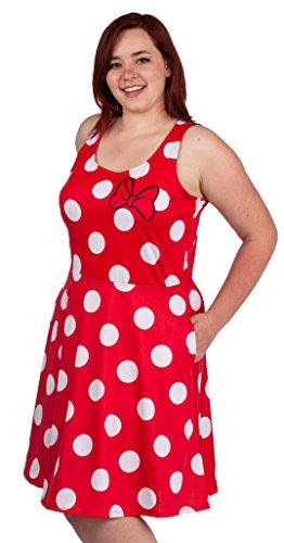 Disney Dresses For Women (Disney Minnie Mouse Juniors Skater Skirt (Medium, Red))