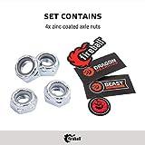 Fireball Dragon Axle Nut Set X 4 | for Skateboard & Longboard Trucks | Hardware Nuts with Beast Guarantee