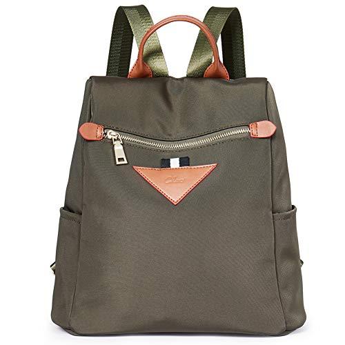 - Backpacks Purse for Women Canvas Fashion Travel Ladies Designer Shoulder Bag green