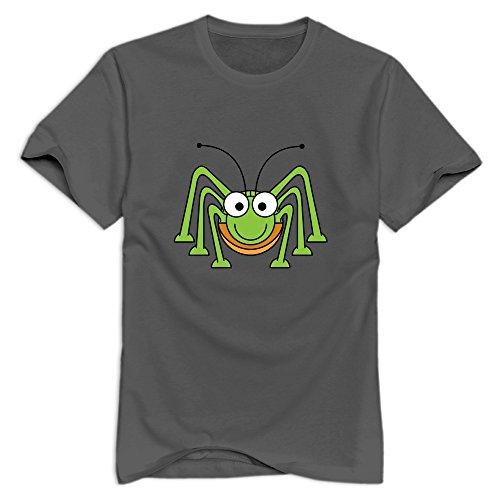 Men's Artist Organic Cotton Cute Green Spider T-Shirt DeepHeather US Size XXL
