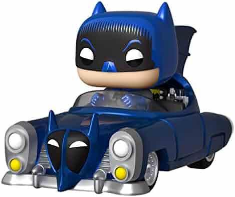Funko Pop! Rides: Batman 80th - Blue Metallic 1950 Batmobile, Amazon Exclusive