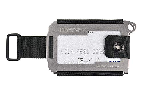 Trayvax Axis Wallet (Tumbled Stainless)