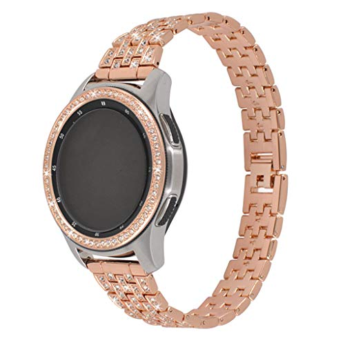 - NOMENI Smart Watch 42/46MM Bezel Ring Adhesive Cover Anti Scratch Stainless Steel 2Pcs Comaptible for Samsung Galaxy