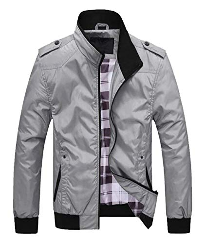 Collar Softshell Vintage Sportswear Da Funzionale Stand Giacca Uomo Leggero Estiva Ragazzi Classiche Leisure Nero Grau Bomber Giacche Outdoor Grigio xg8vnw8Oq