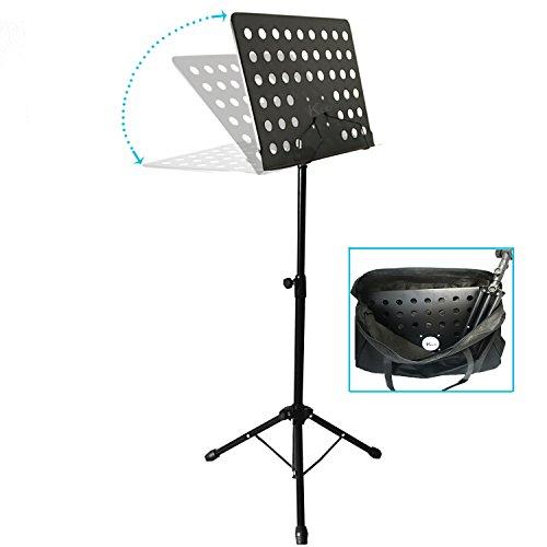 kruzco-portable-music-stand-for-sheet-holder-black