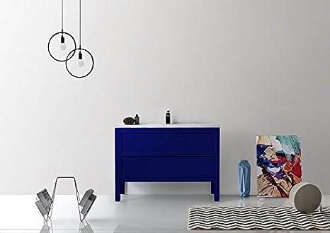 Terrific Amazon Com Annecy 48 Navy Blue Free Standing Modern Download Free Architecture Designs Scobabritishbridgeorg